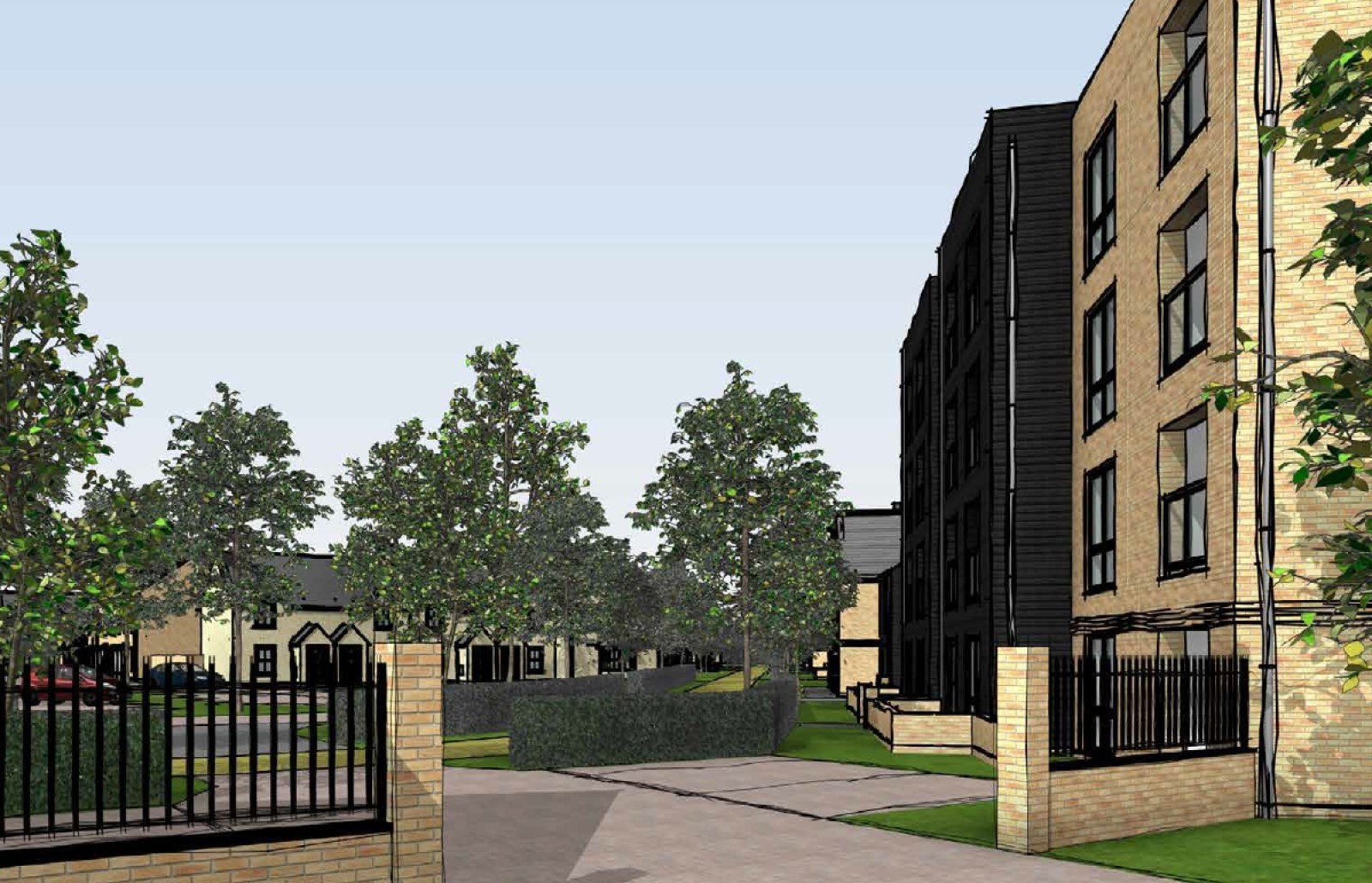 Proposed development at Hill View Farm in Old Marston, Oxford.