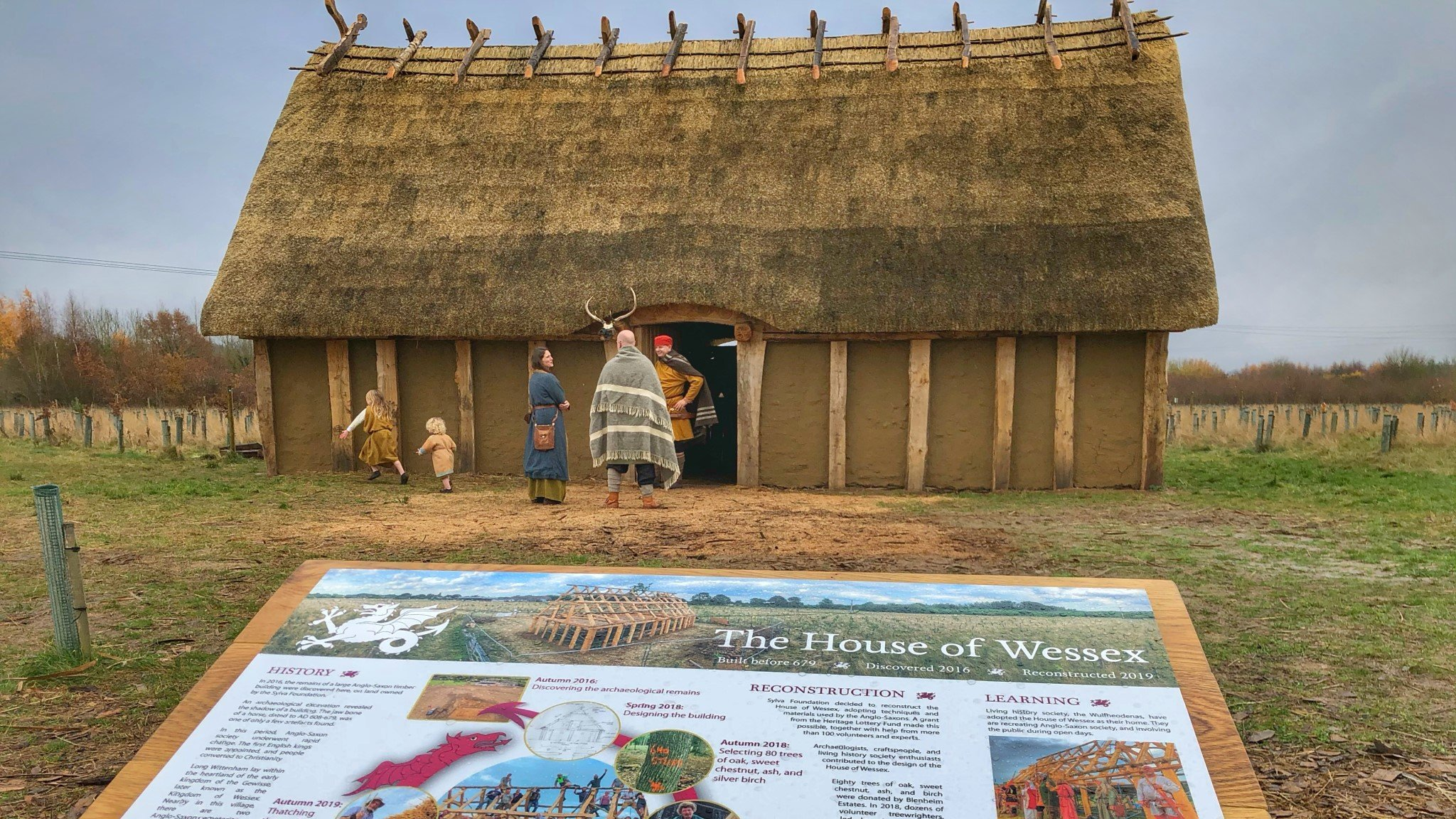 House of Wessex - A uniquely reconstructed Anglo-Saxon building in Long Wittenham, Oxfordshire