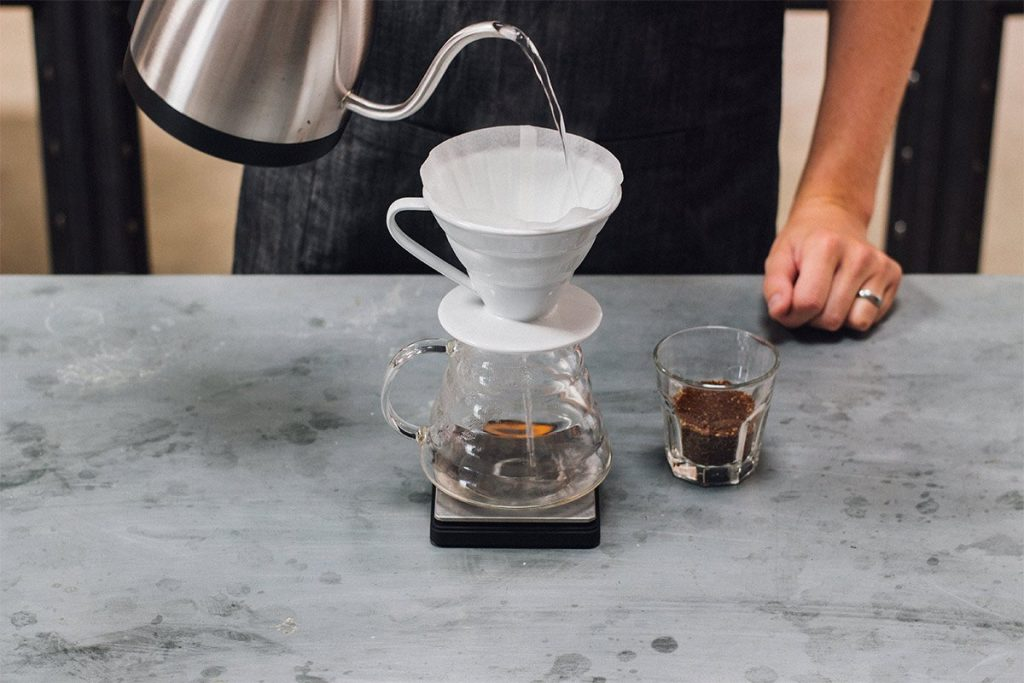 How to brew the perfect cup of pour-over coffee - Step 02