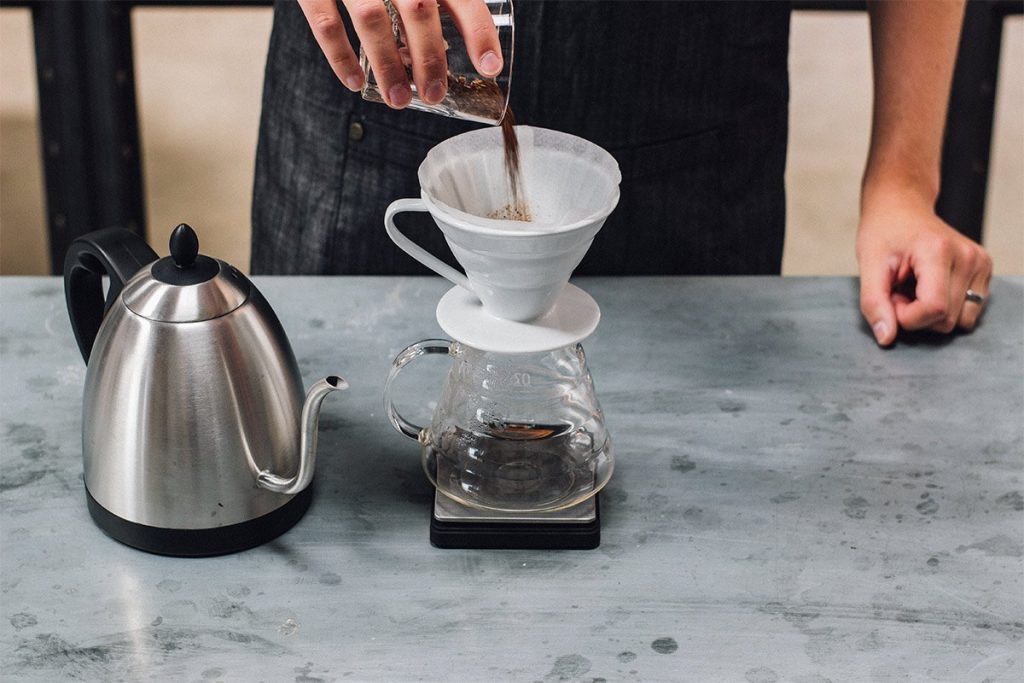 How to brew the perfect cup of pour-over coffee - Step 03