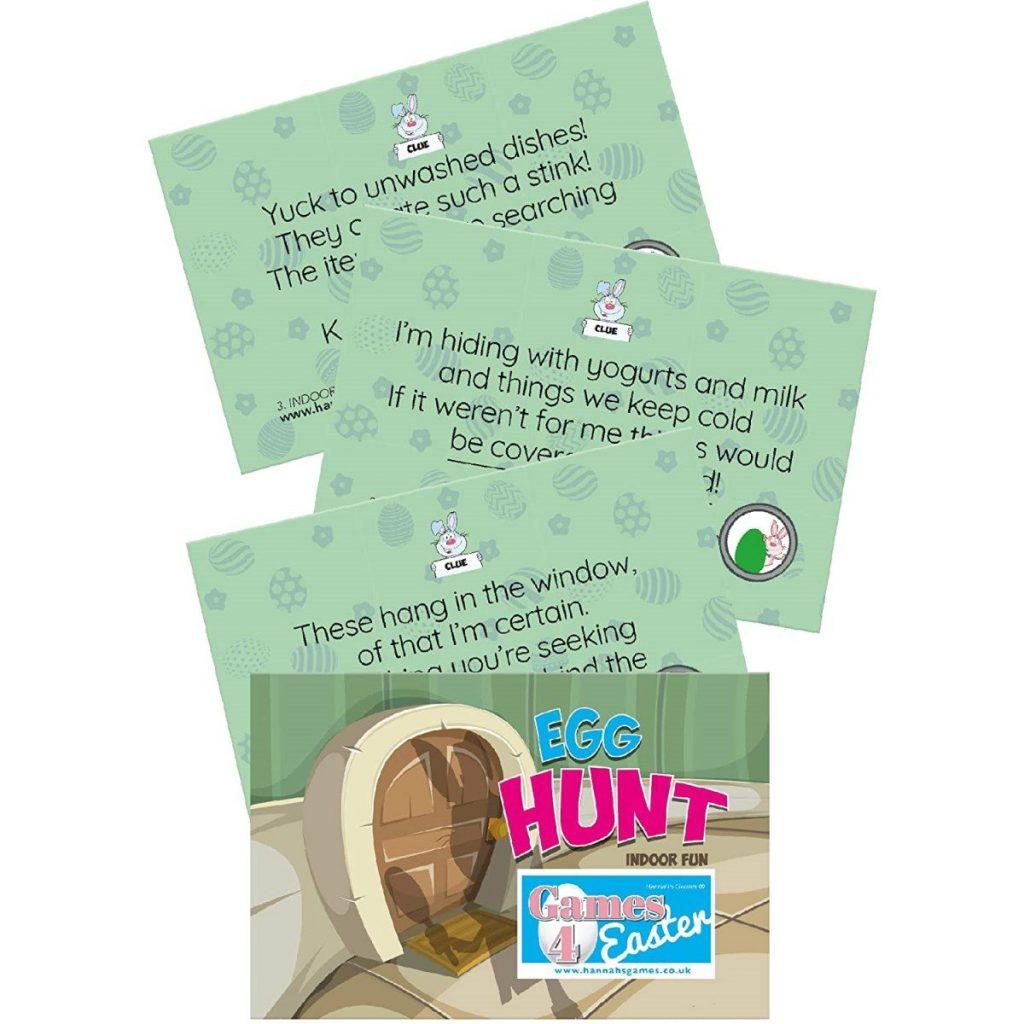 Indoor Easter Egg Hunt Clues