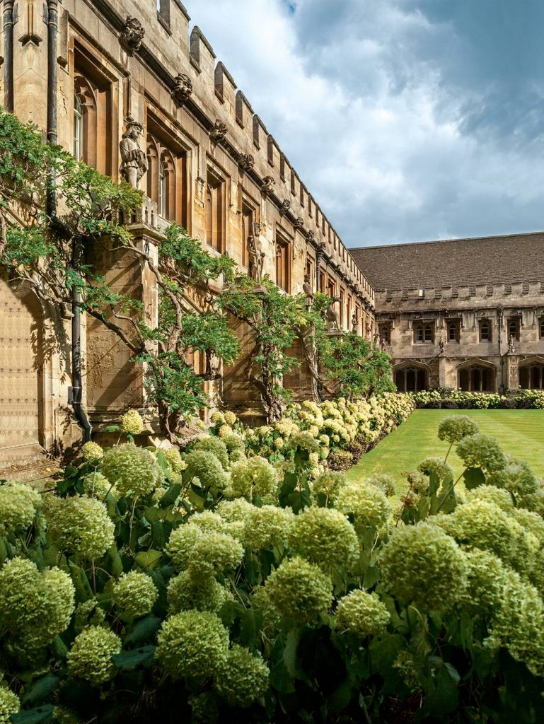Inside Oxford College Gardens - The cloister at Magdalen College