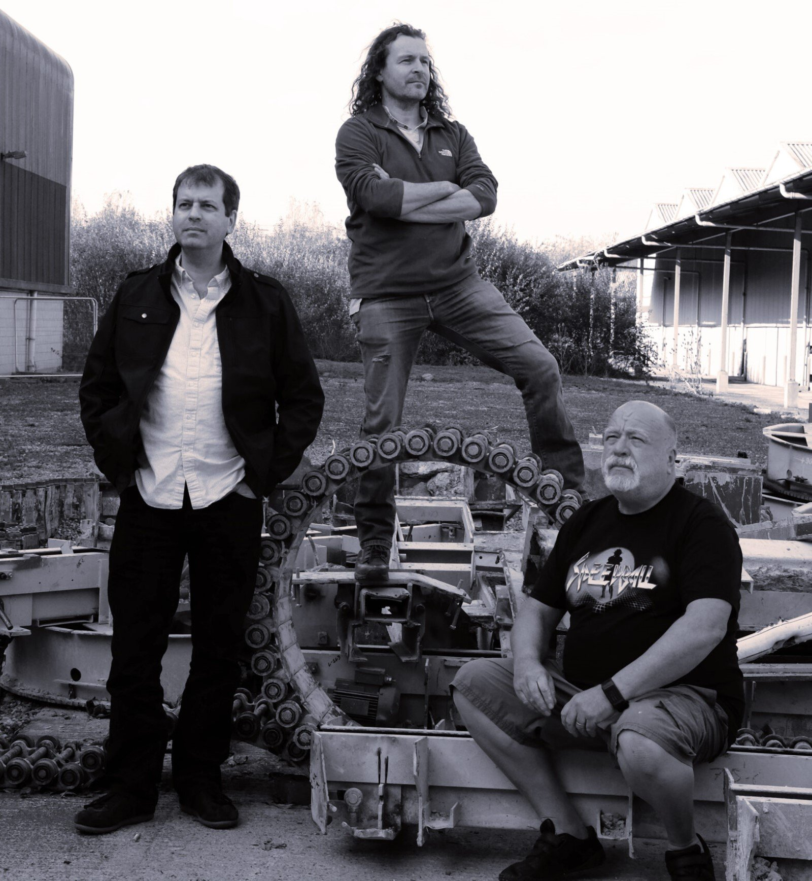 Oxford-based Rebellion acquires The Bitmap Brothers brand and portfolio. Image: Rebellion co-founders Jason & Chris Kingsley with Bitmap Brothers co-founder Mike Montgomery