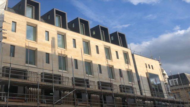 Work progresses on Jesus College's new building on Cornmarket