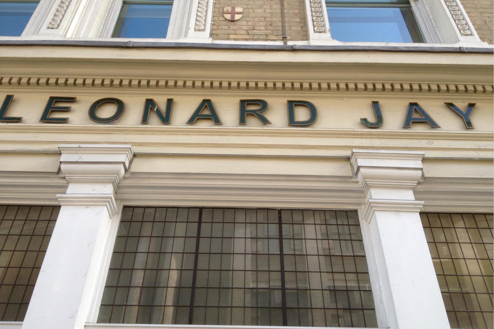 Leonard Jay Shop Signage