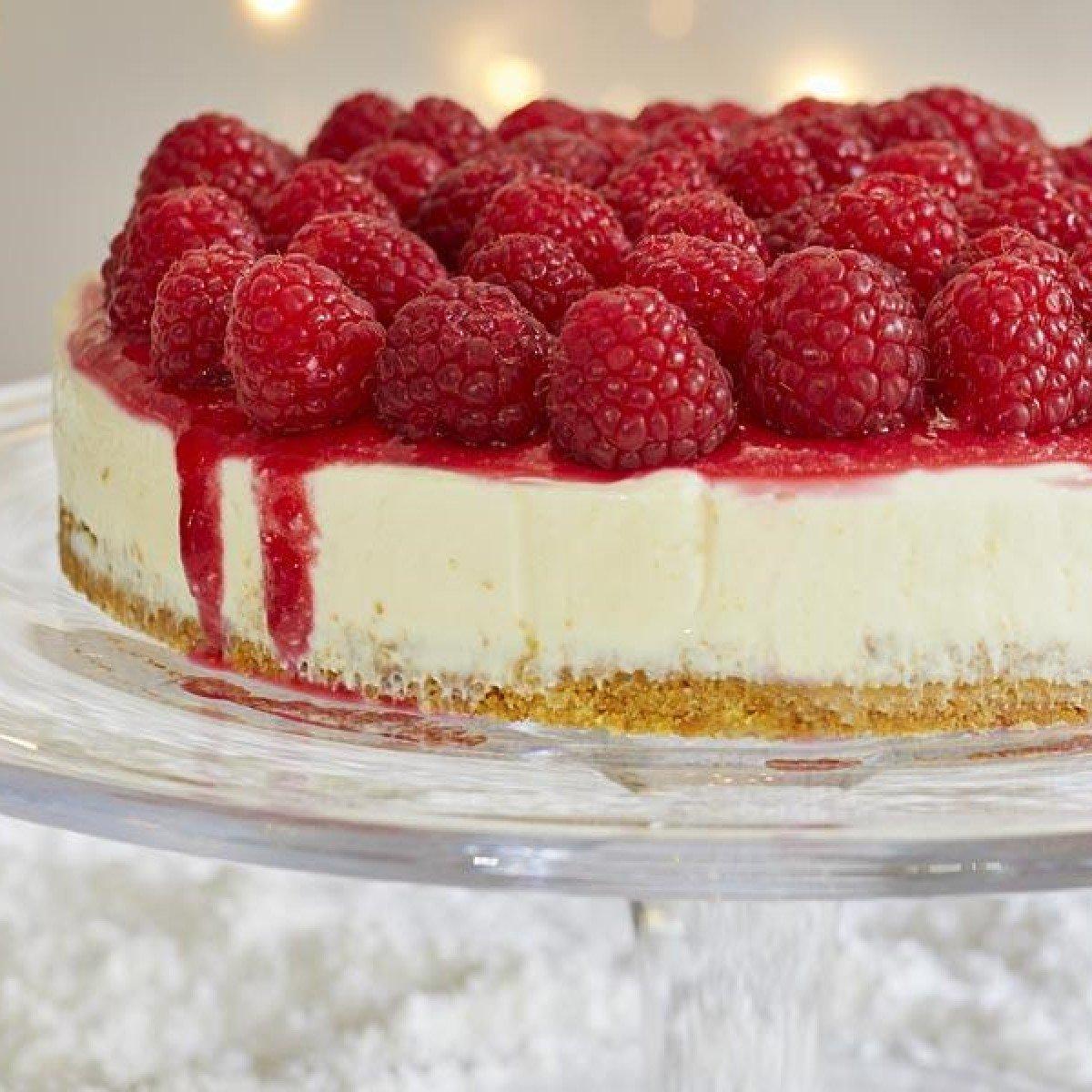 No-bake Philadelphia Cheesecake with Raspberries Recipe