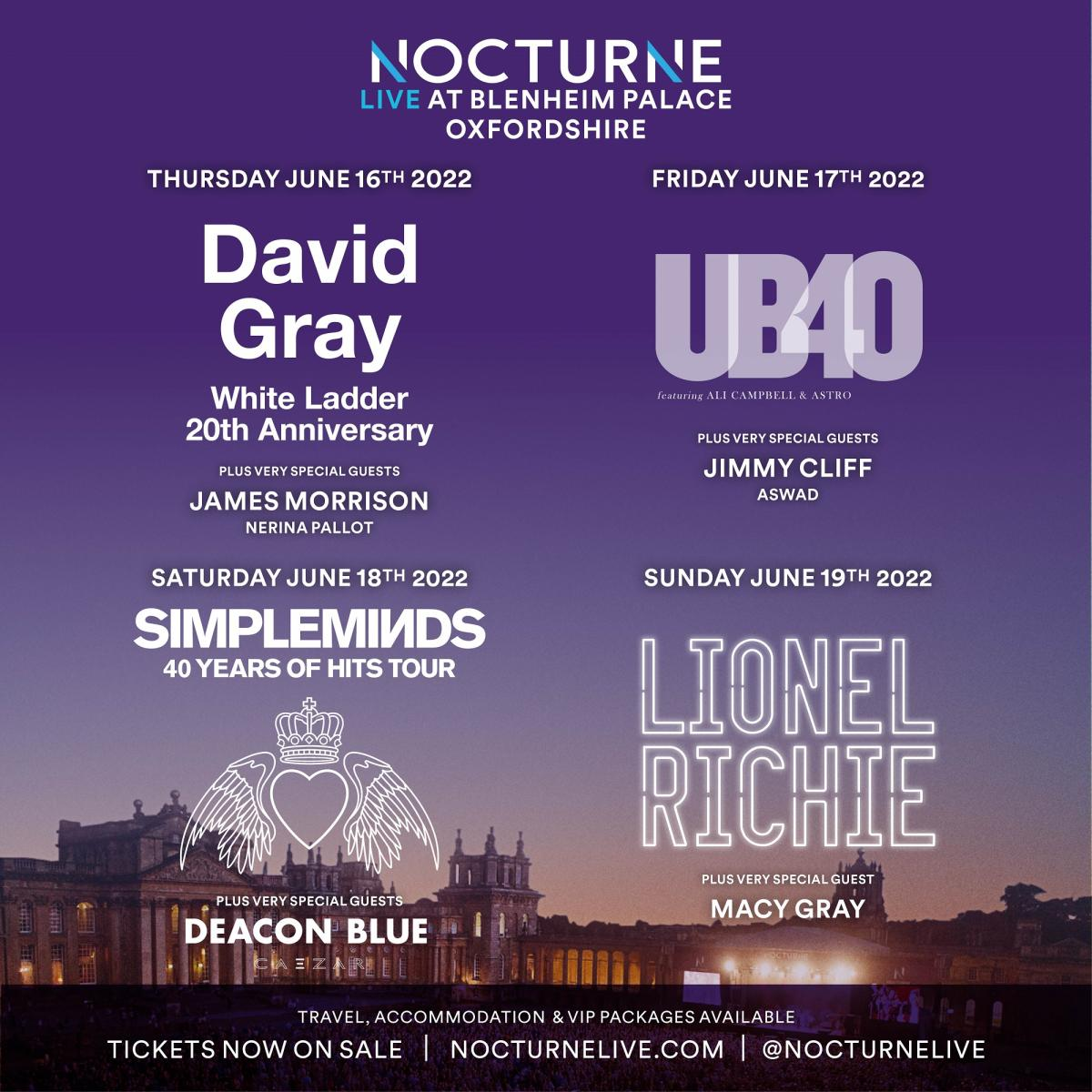 Nocturne Live 2022 at Blenheim Palace - Poster 01