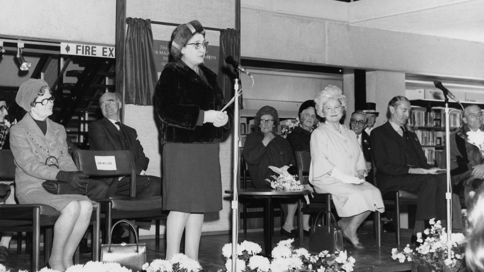 Olive Gibbs, local politician and peace campaigner with Liz Woolley