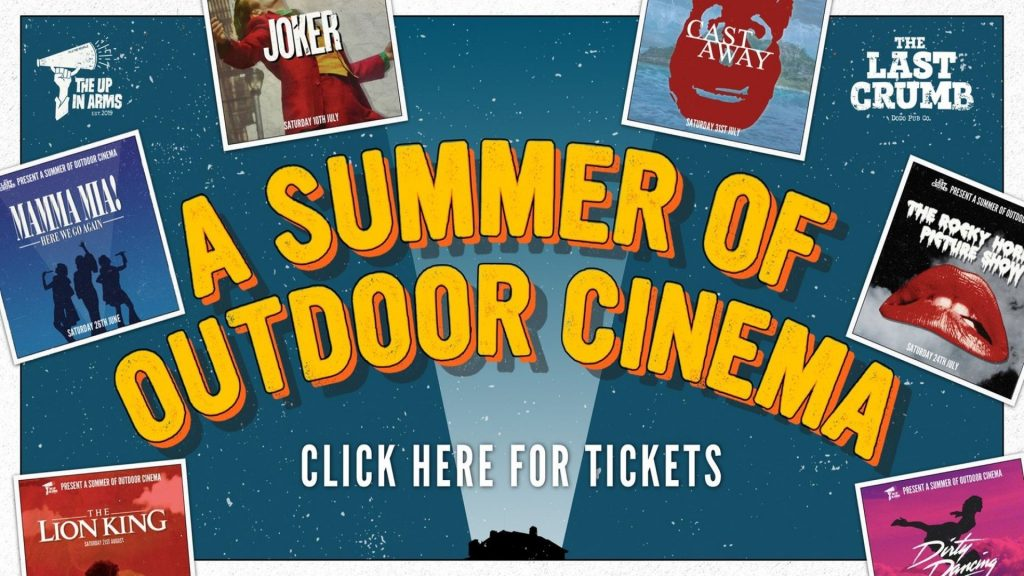 Outdoor cinema at The Up In Arms, Marston