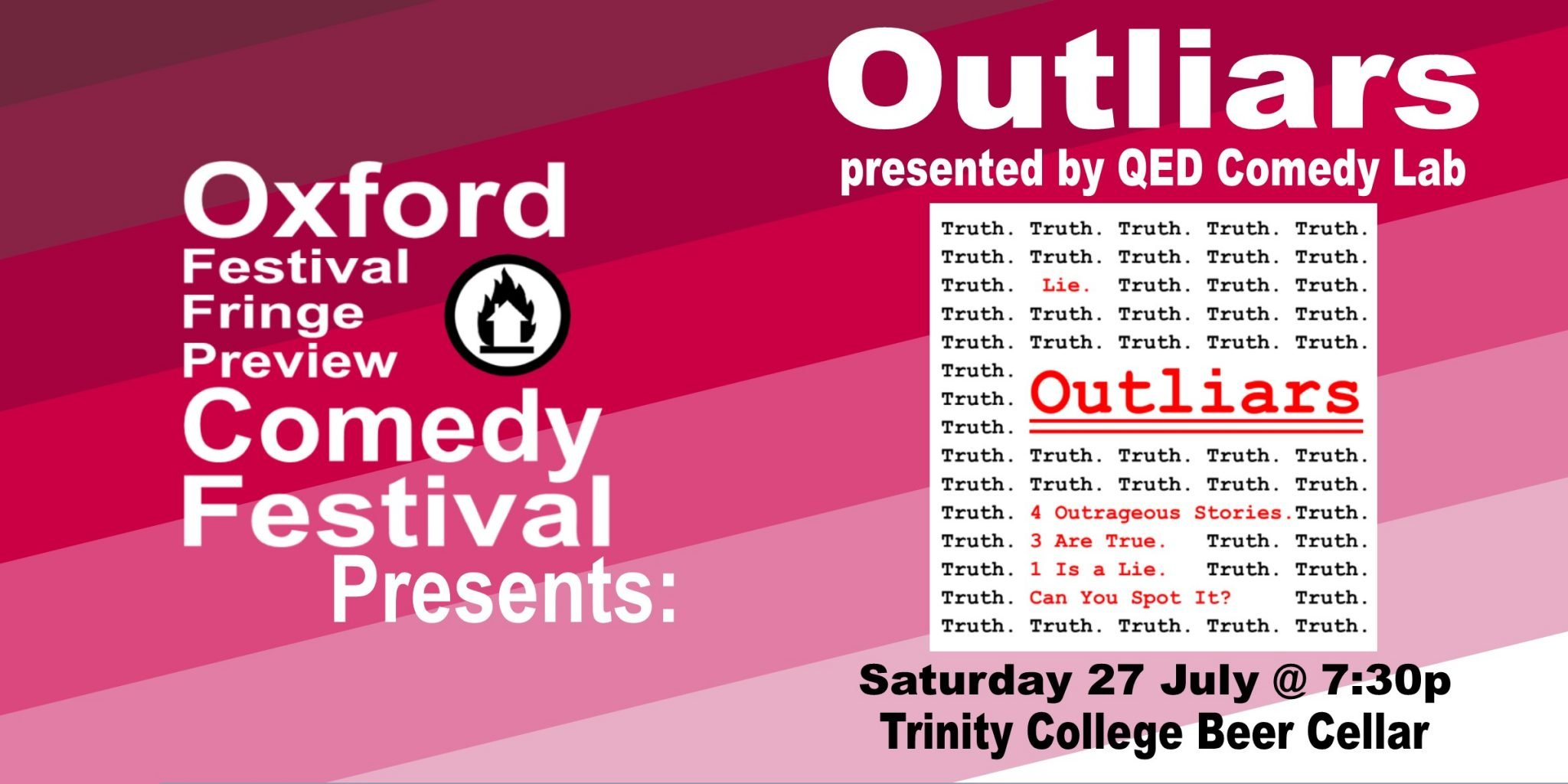 Oxford Comedy Festival 2019 presents Outliars by QED Comedy Lab