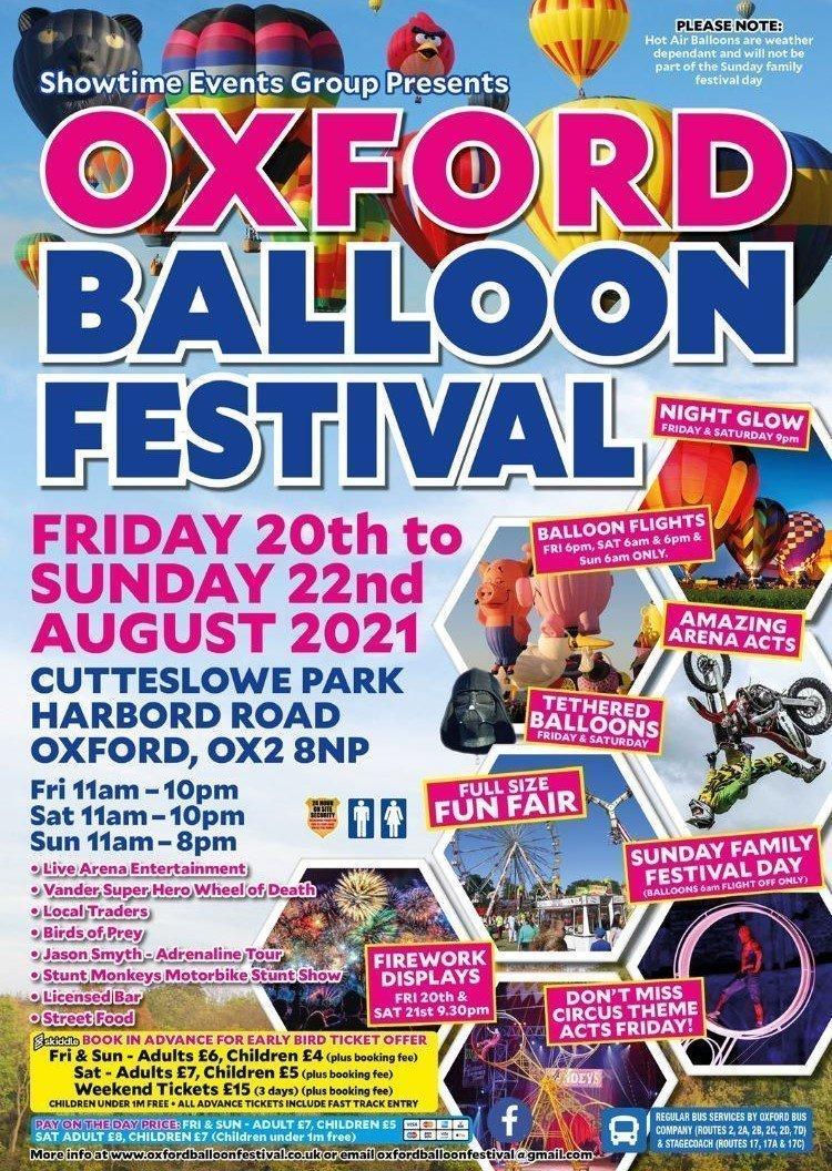 Oxford Balloon Festival 2021 Poster