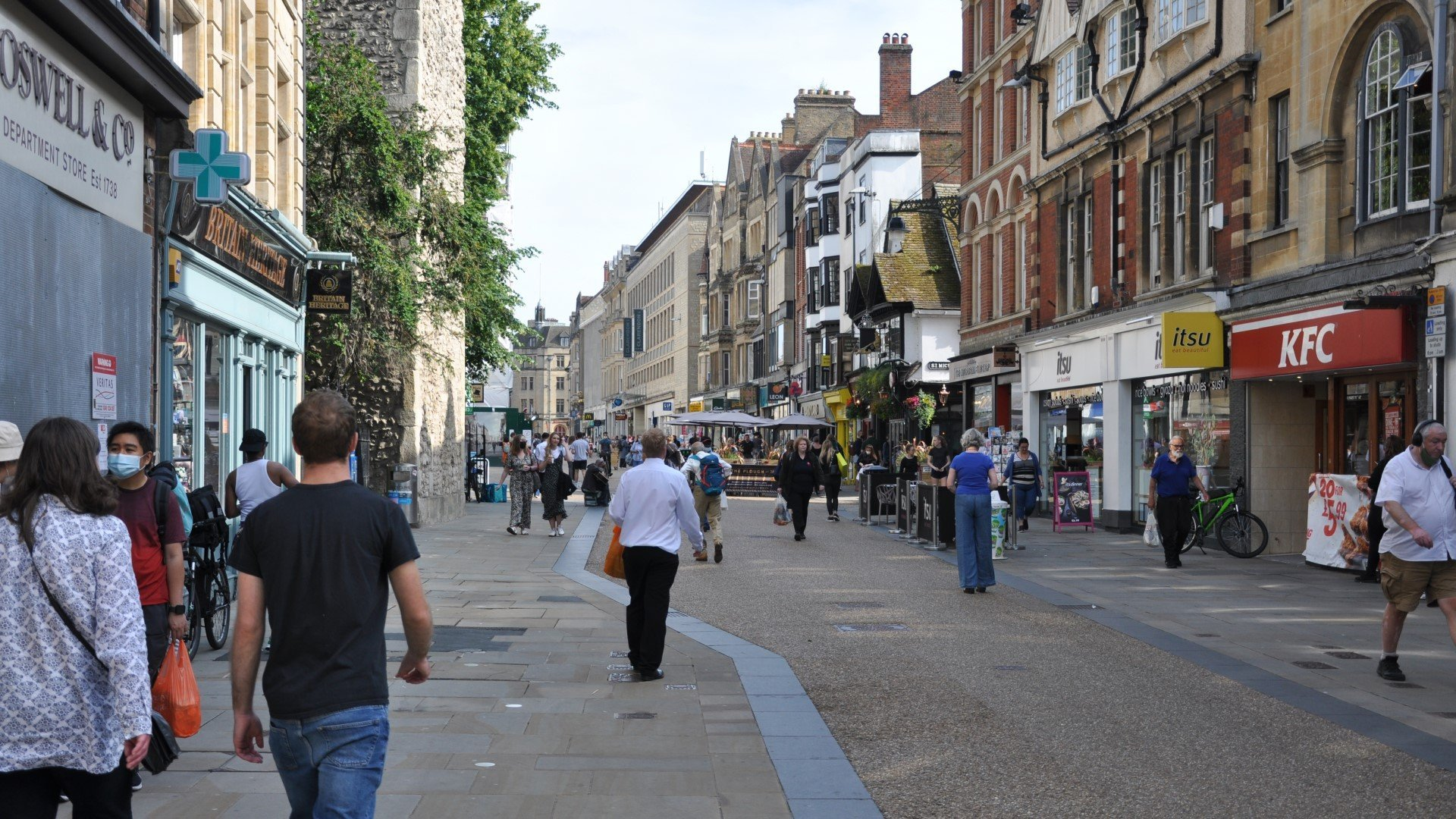 COVID-19 cases in Oxford is highest in south-east