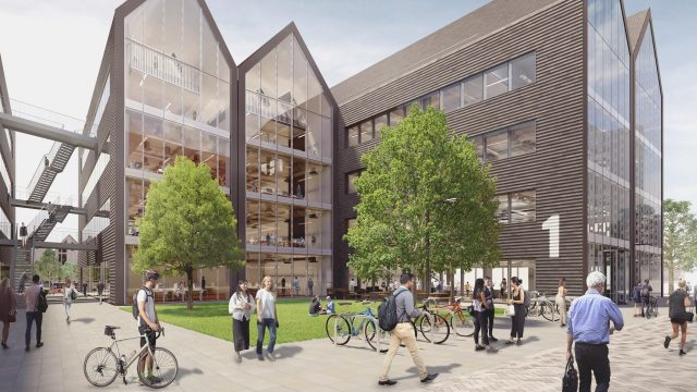 Construction to start at Oxford North with Hill Group awarded £15m contract. Image: Oxford North phase 1 new labs and workspace building
