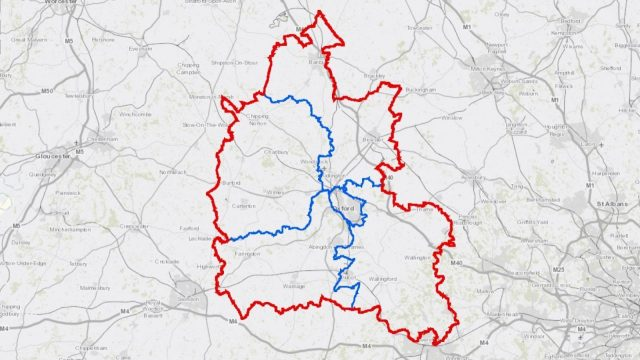Have your say on major future infrastructure plans in Oxfordshire. Image: Map of Oxfordshire