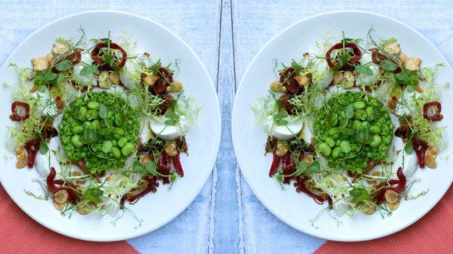 Pea Broad Bean Red Pepper Buffalo Mozzarella Salad Recipe