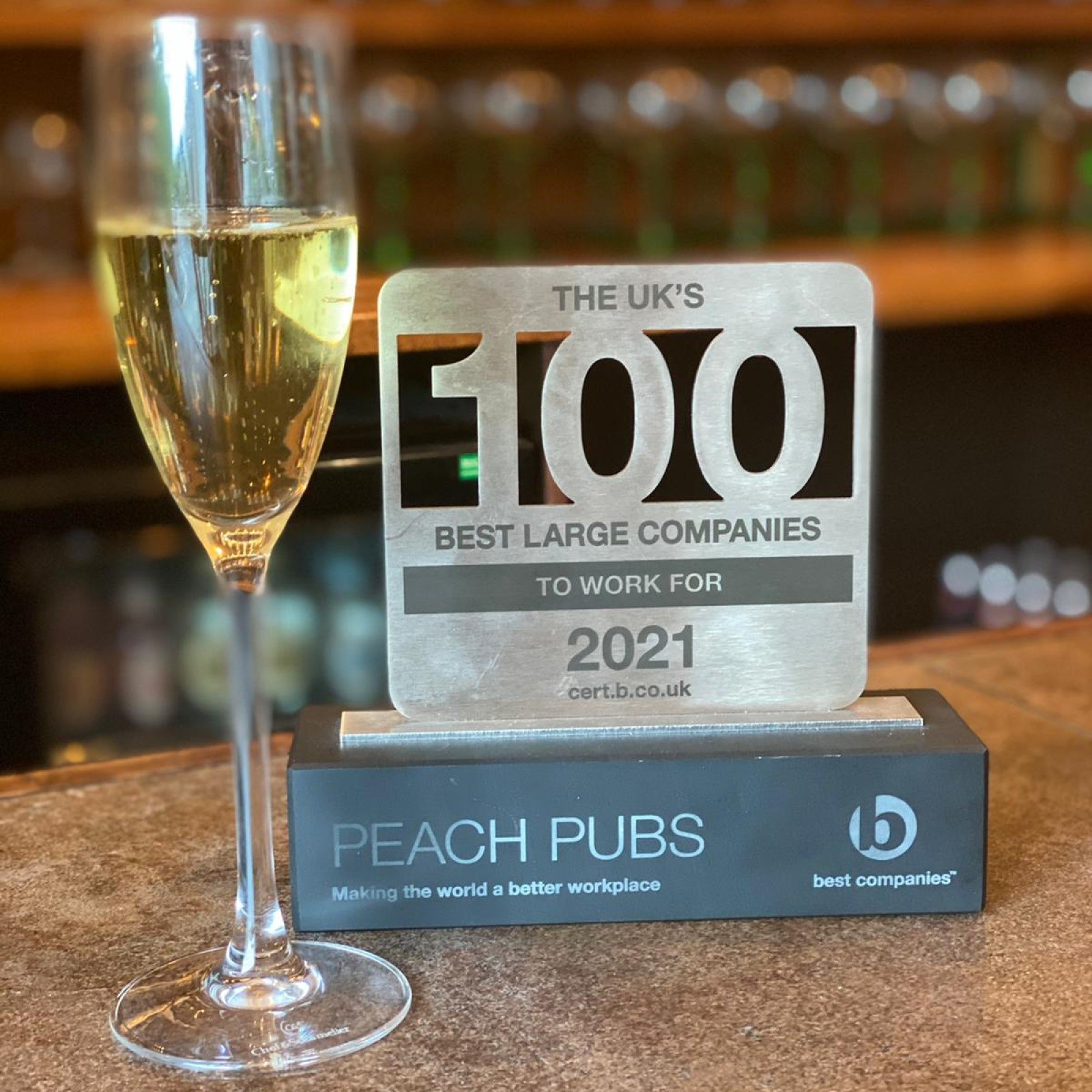 Oxfordshire pub company Peach named one of best companies to work for