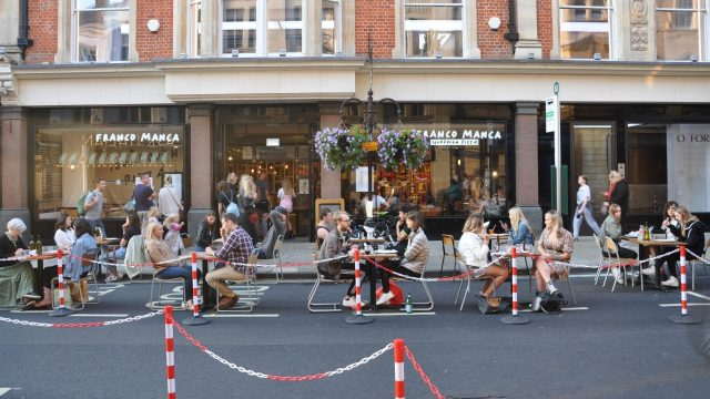Pedestrianisation and outdoor seating areas to return to city in April