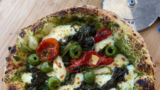 Pesto, Friarelli & Sun Blushed Tomato Pizza Recipe by The Pizza Boys Bicester