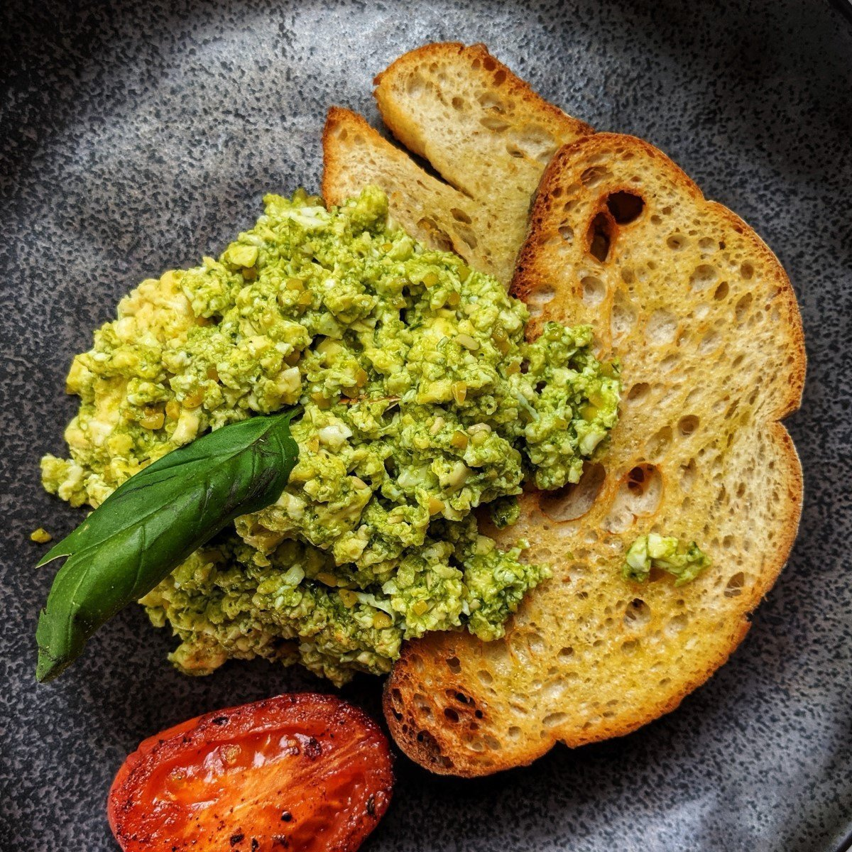 Pesto Scrambled Eggs aka Green Eggs Recipe
