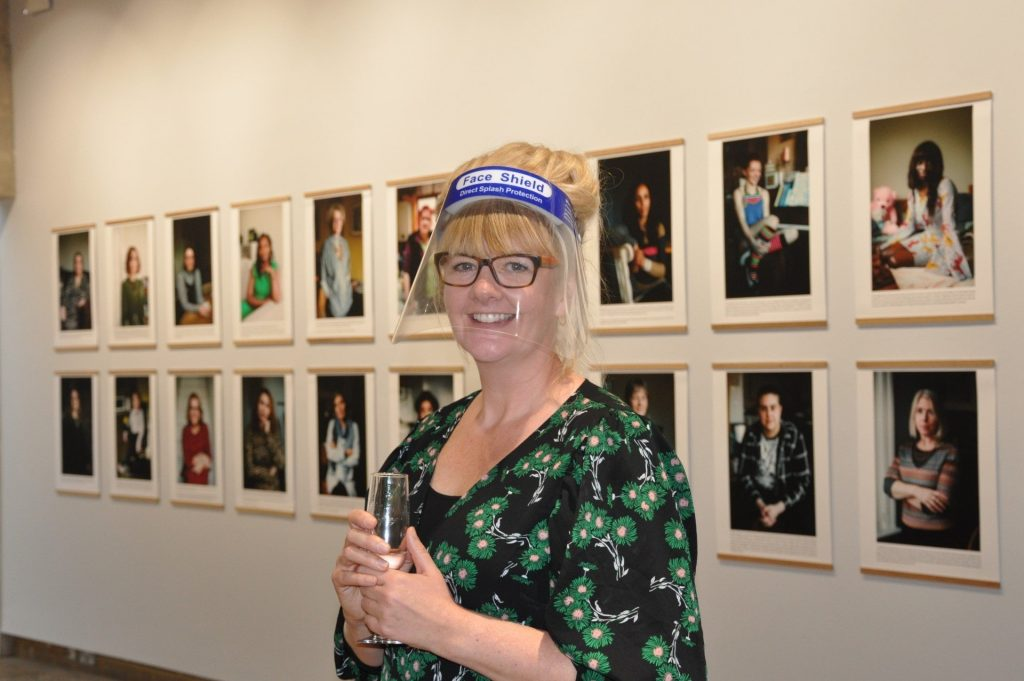 Artist Philippa James at the Exhibition in Summertown Oxford
