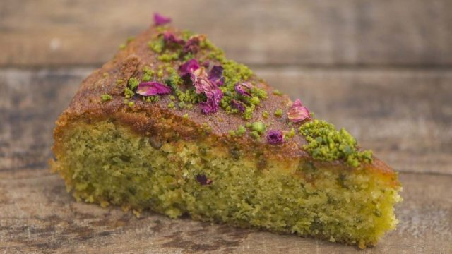 Pistachio and Rose Semolina Cake Recipe