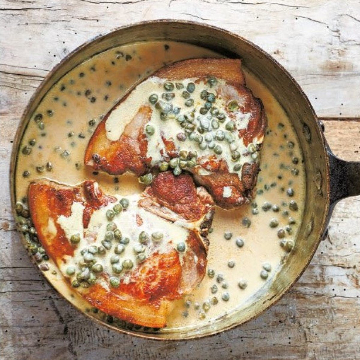 Pork Chops with Mustard and Capers Recipe