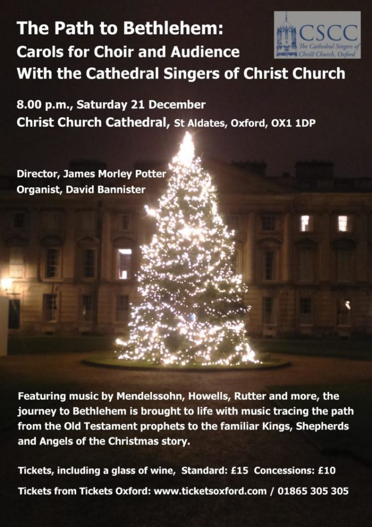 Poster for Cathedral Singers Christmas Concert - The Path to Bethlehem