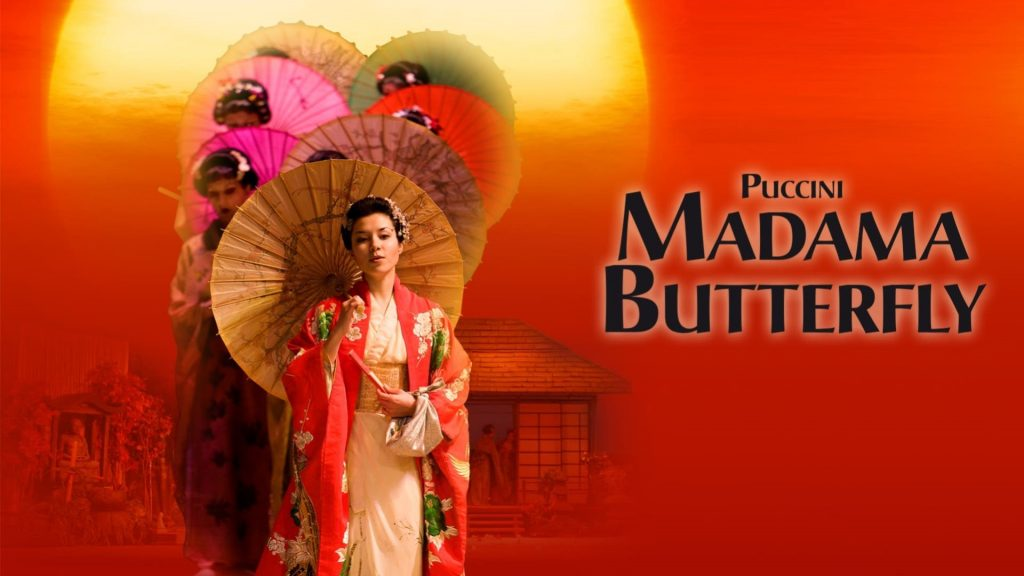 Poster for Ellen Kent's Madama Butterfly at New Theatre Oxford