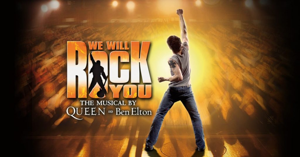 Poster for We Will Rock You Musical at New Theatre Oxford