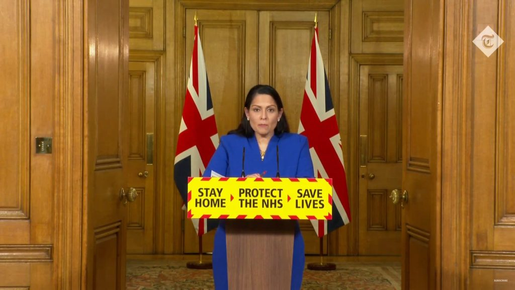 Priti Patel DOwning Street Briefing 12 January 2020