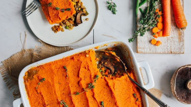 Vegetarian Pumpkin & Sweet Potato Shepherd's Pie Recipe
