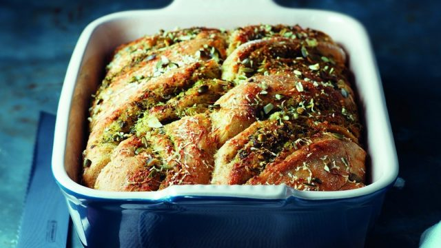 Pumpkin Seed Pesto Bread Recipe