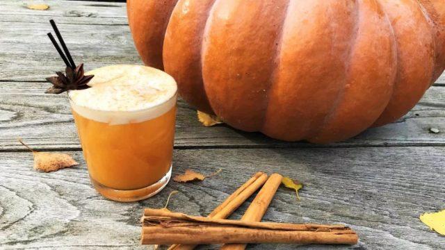 Pumpkin Sour Cocktail