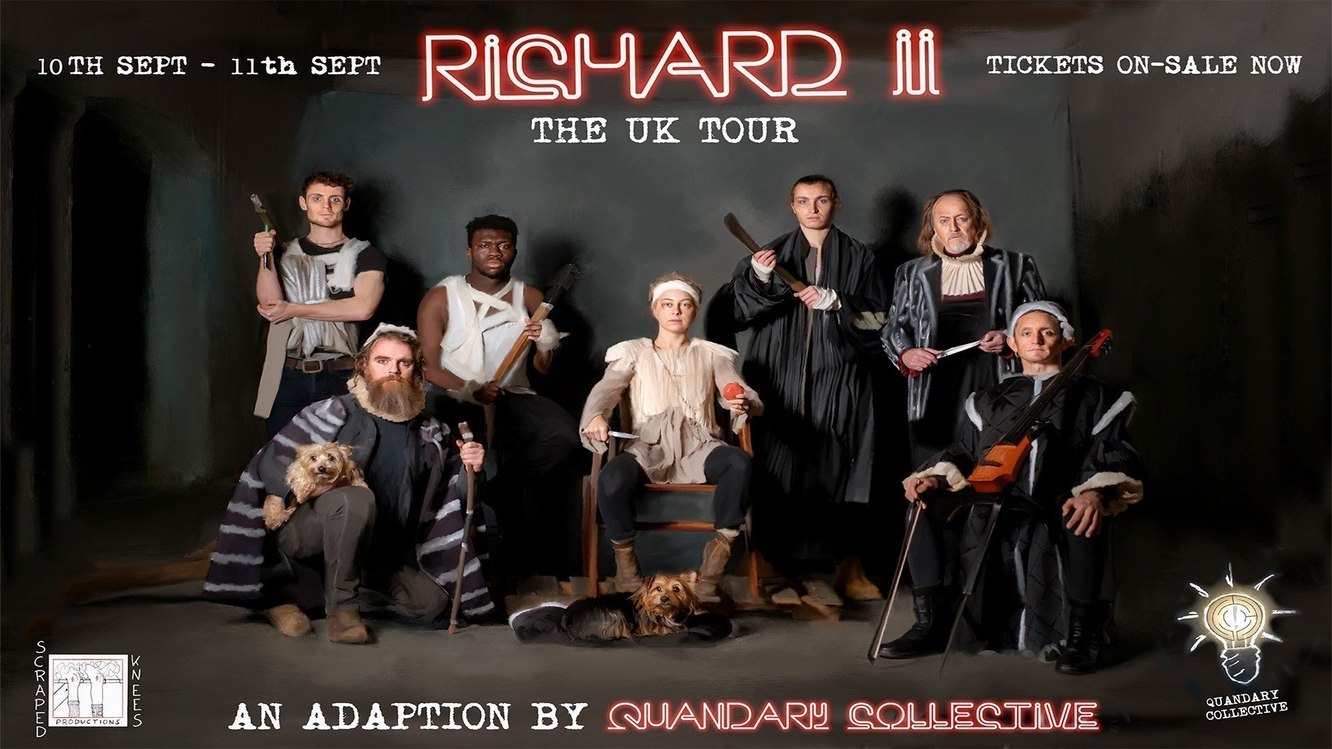 Quandary Collective's Richard II Visiting major UK cities including Oxfordshire's Waterperry Gardens