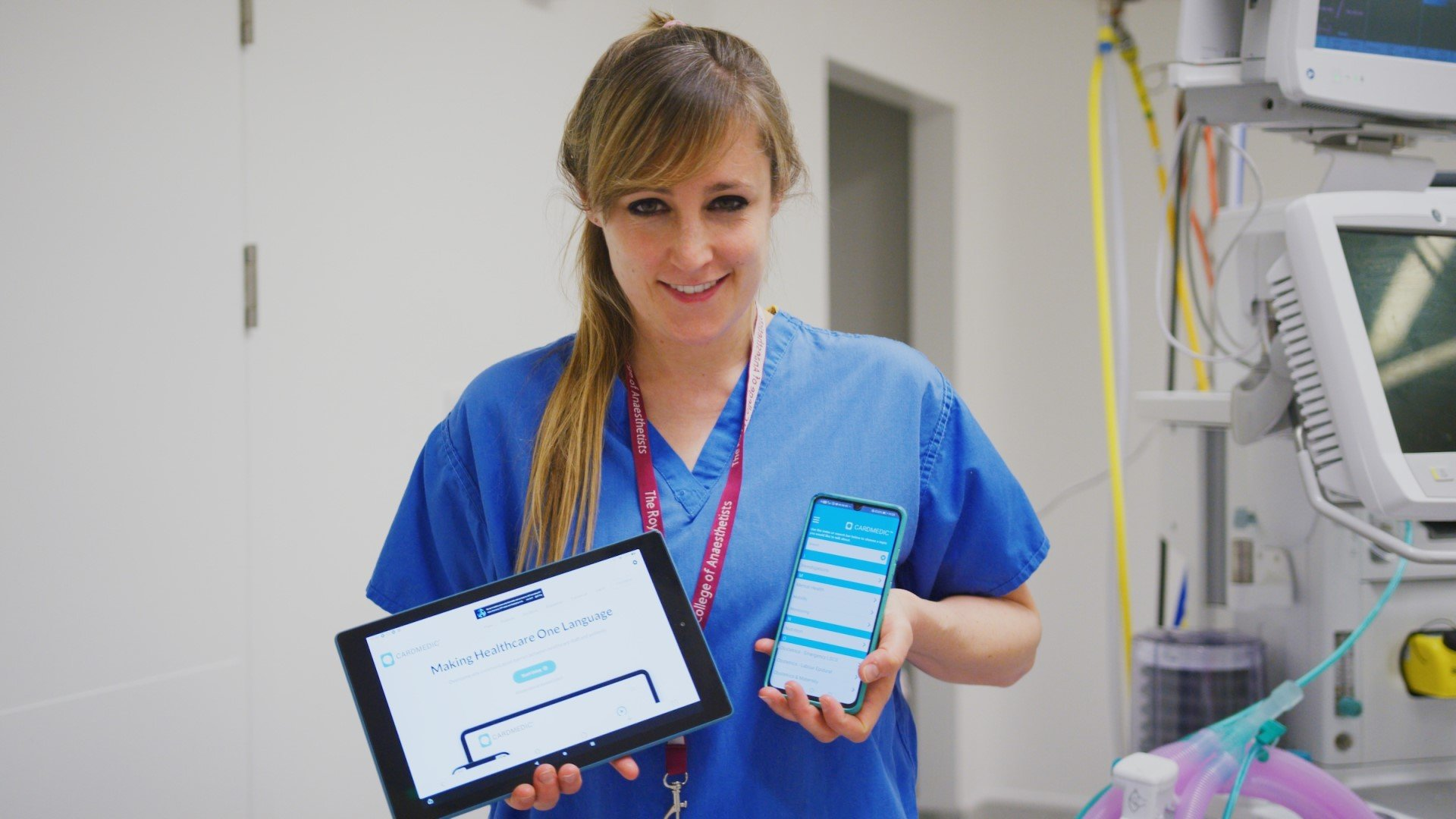 Rachael Grimaldi with the CardMedic App