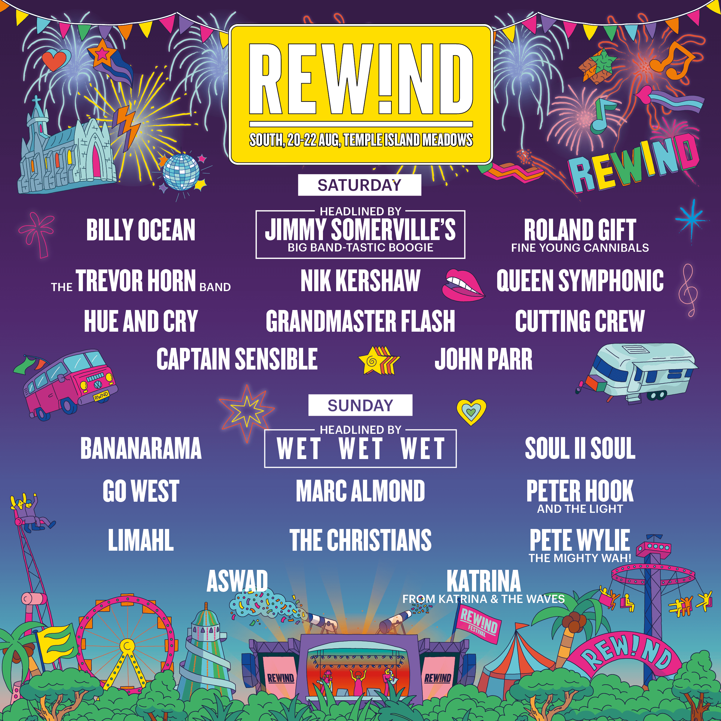 Rewind Festival South 2021 Poster