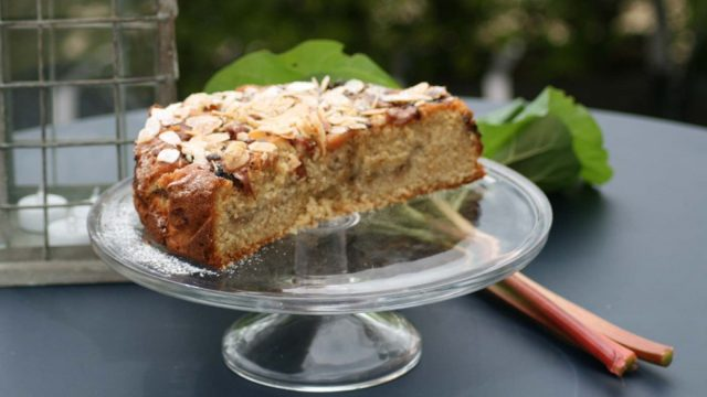 Rhubarb and Almond Cake Recipe