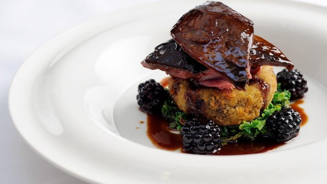 Roast Grouse With Backberries And Port Wine Jus