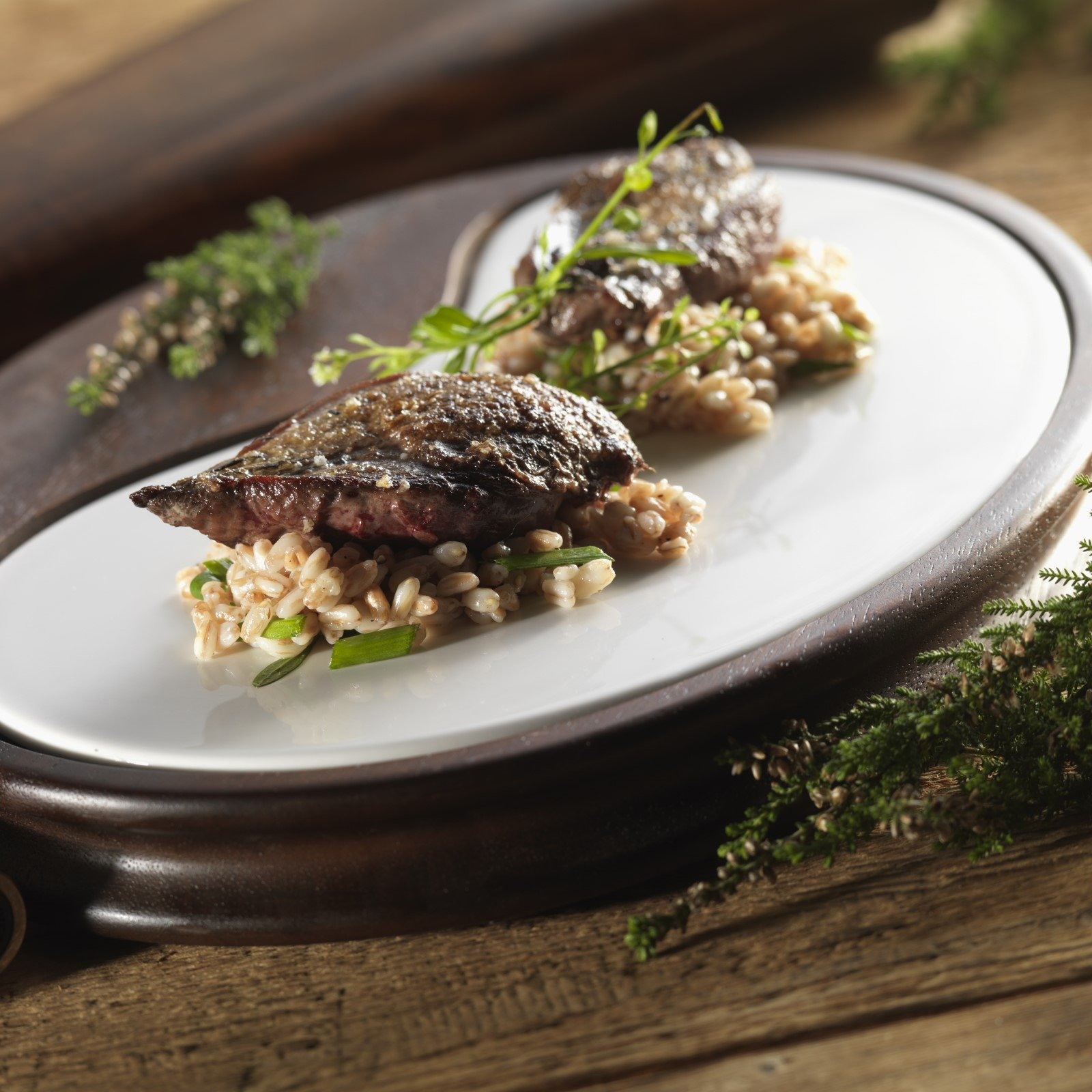 Roast Grouse with Herby Spelt Risotto Recipe