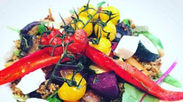 Roast Vegetable Salad with Quinoa & Feta Recipe