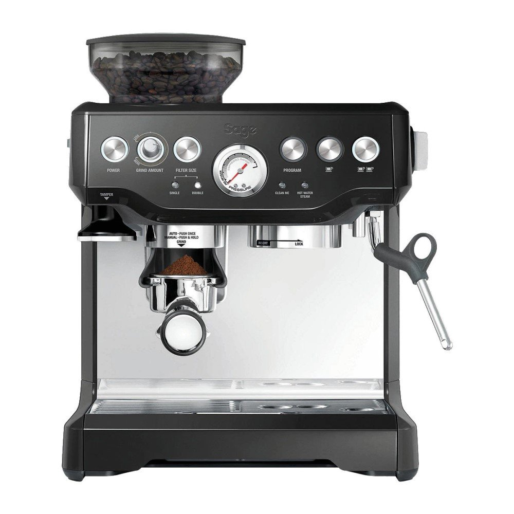 Luxury Gift for the Coffee Lover - Sage Barista Express Bean-to-Cup Coffee Machine, Black, Black