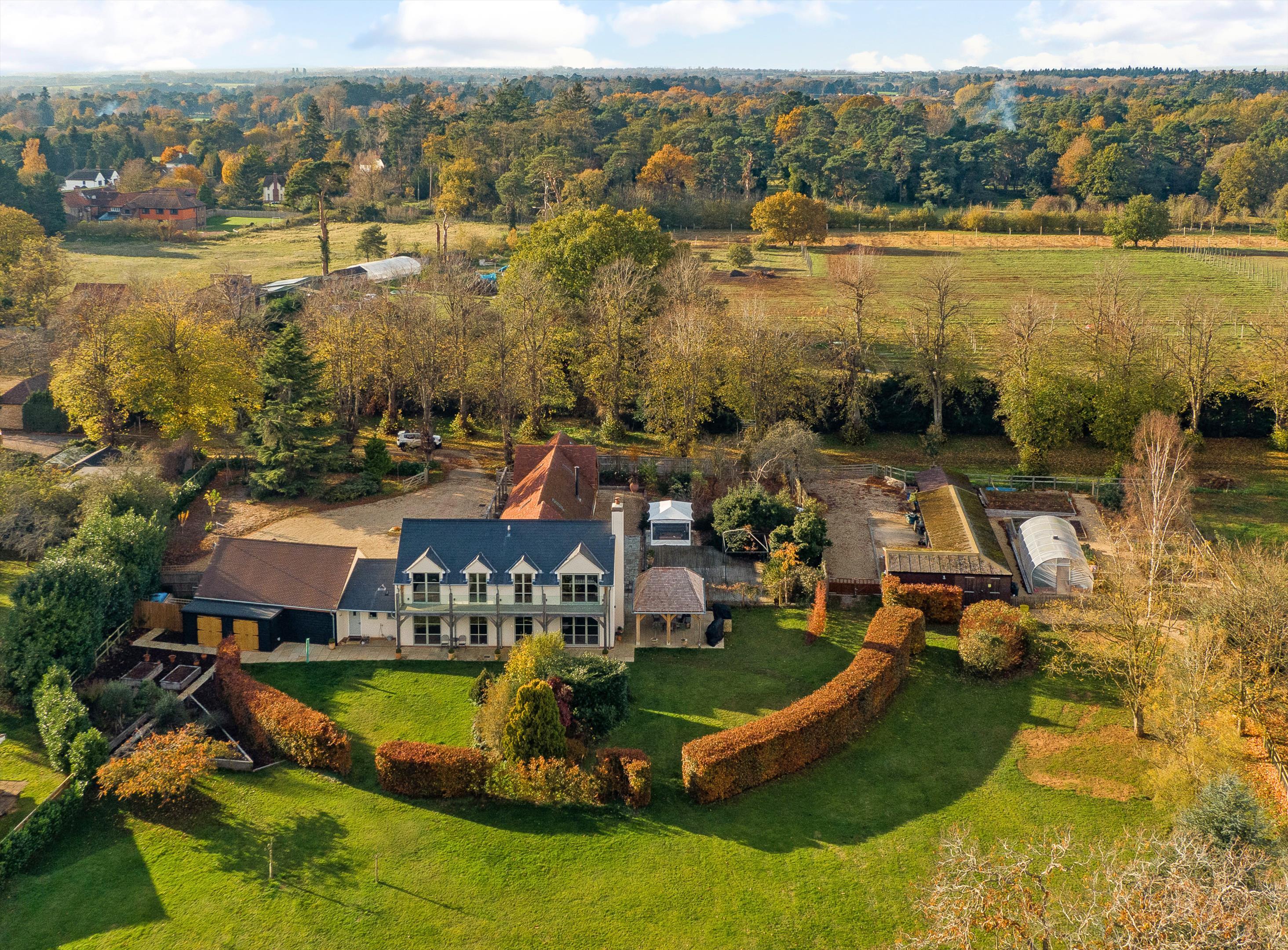 School House Frilford Heath Abingdon Oxfordshire - Aerial View