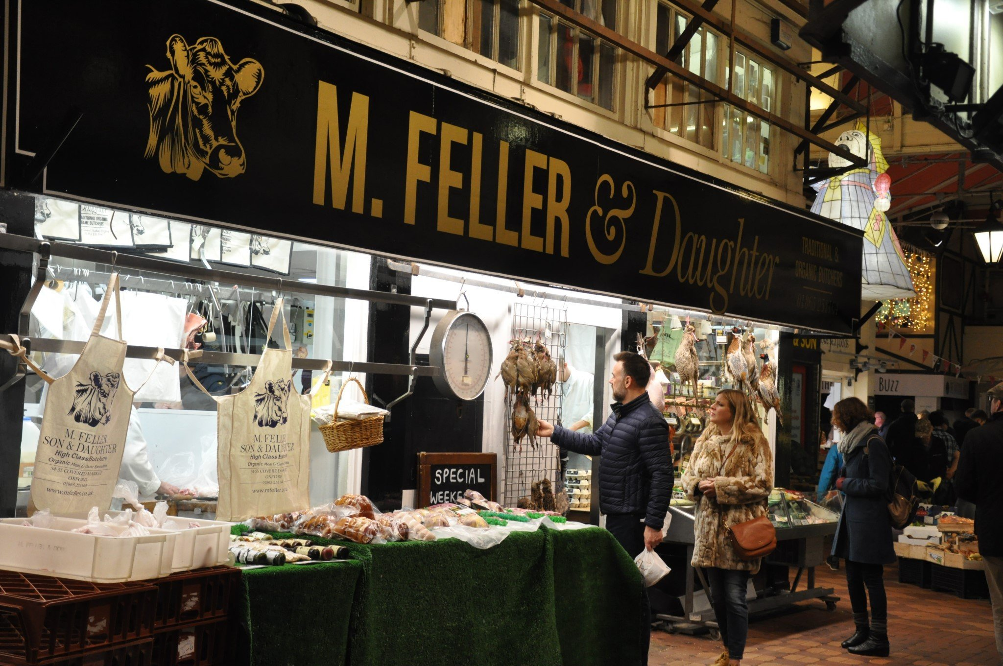 A festive shopping day out at Oxford's Covered Market