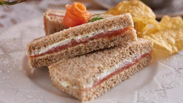 Salmon and Soft Cheese Sandwich Recipe