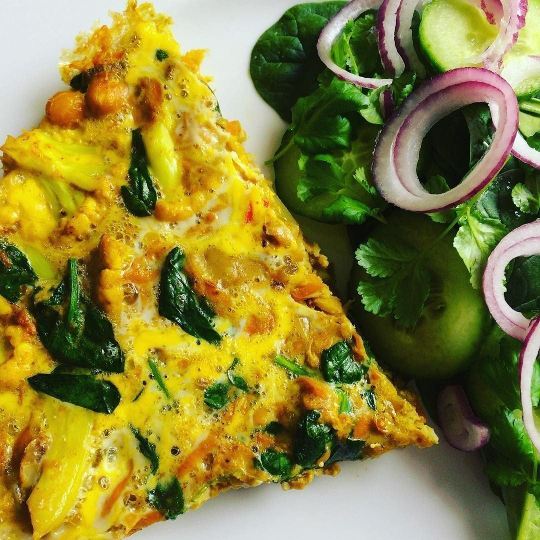 Spiced Vegetable Frittata Recipe