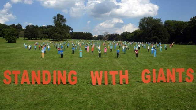 Outdoor art installation and tribute to NHS workers at Oxford's South Park