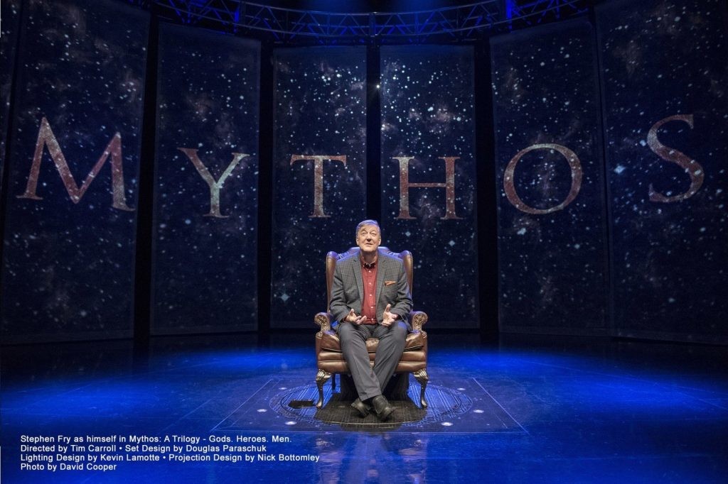 Poster for Stephen Fry - Mythos Trilogy at New Theatre Oxford