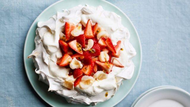 Strawberry, Lychee and Passion Fruit Pavlova Recipe