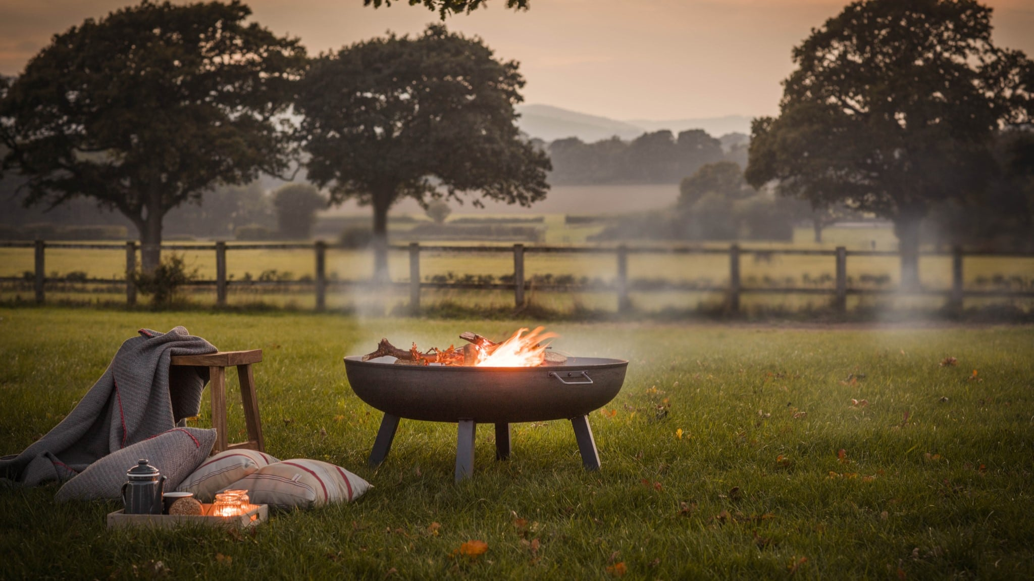 Whether it's a fire pit or a patio heater - stylish outdoor heating ideas from Oxfordshire based suppliers