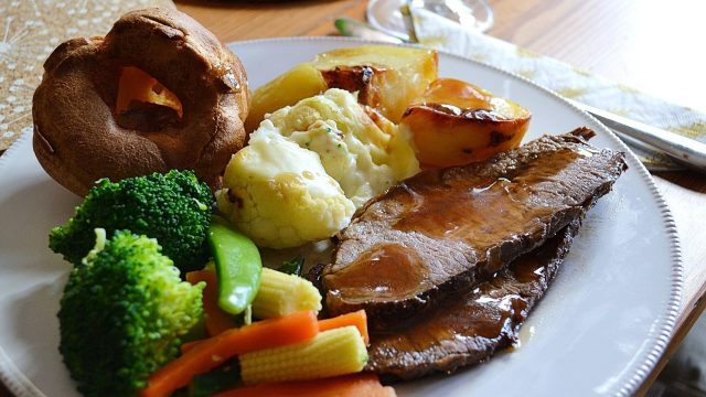 Sunday roast takeaway in Oxfordshire during the lockdown